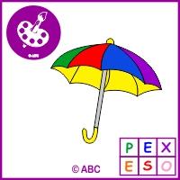 hra pexeso farebné dáždniky