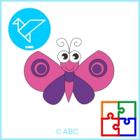 hra skladačka motýľ