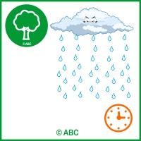 interaktívna hra - jesenná príroda - dážď