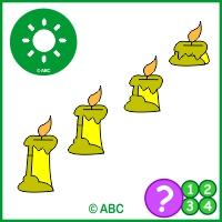 hra topenie sviečky - časová postupnosť