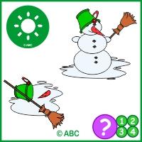 hra topenie snehuliaka