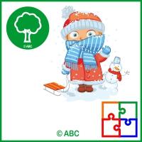 hra skladačka Zima