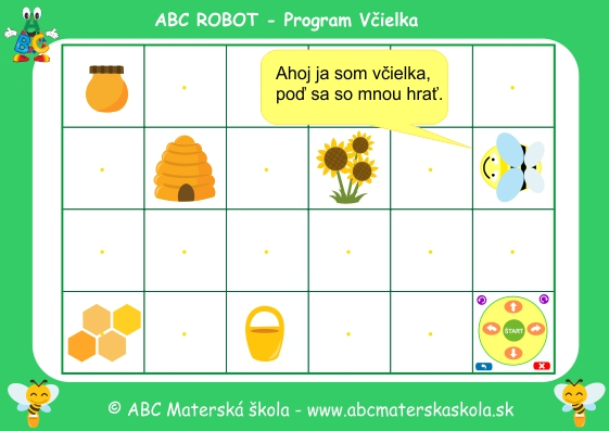 abc robot program včielka