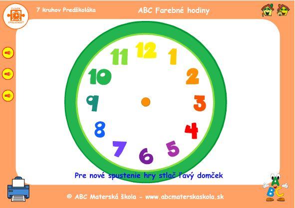 farebné hodiny a čísla