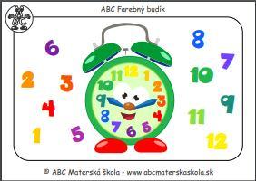 ABC Budík - Hodiny a čísla - farebná predloha