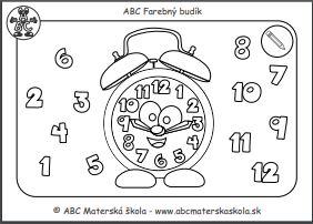 ABC Budík - maľovanka