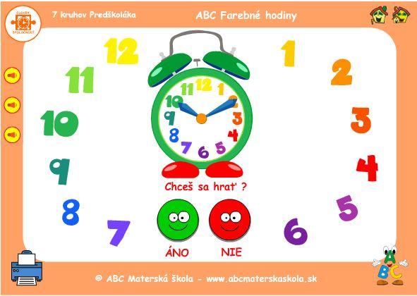 ABC Budík - Hodiny a čísla - hra