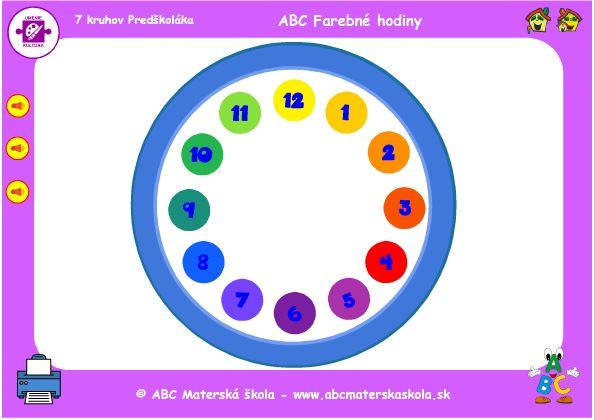 ABC farebné hodiny - hra