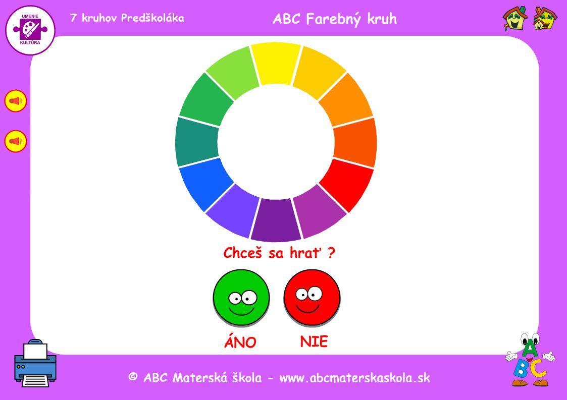 ABC farebný kruh hra