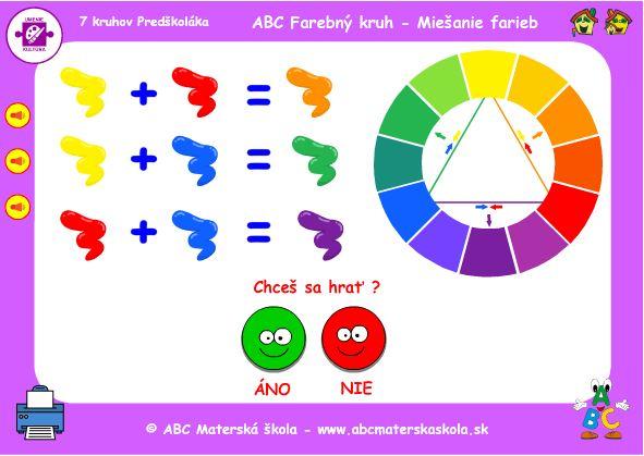 ABC Farebný kruh - Miešanie farieb - hra
