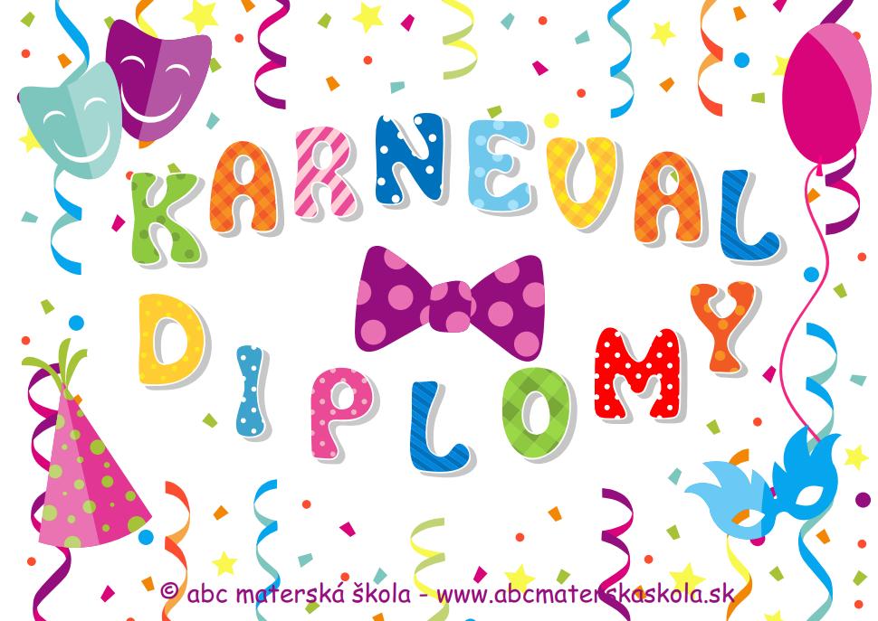 Fašiangy - Karneval - Diplomy