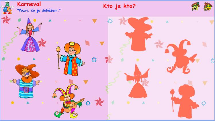 Interaktívna hra - Karneval - Kto je kto