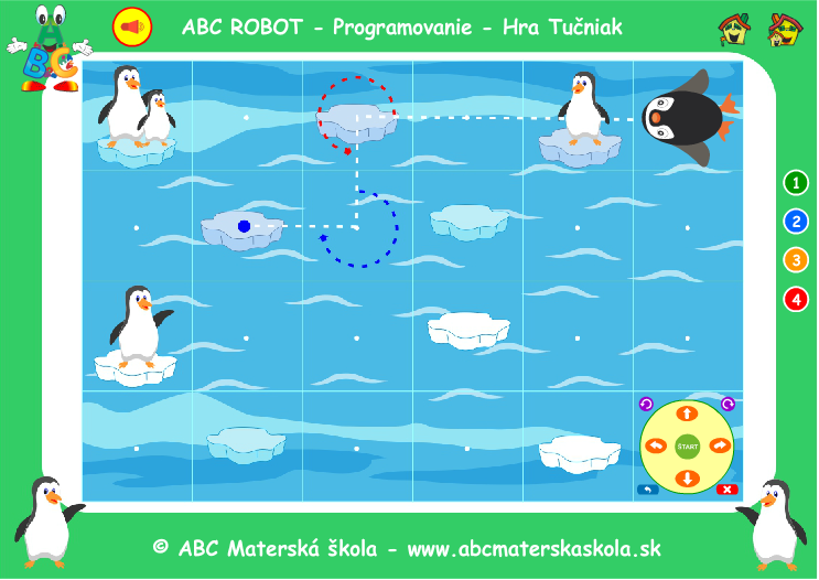 ABC Robot Tučniak - Hra Programovačka