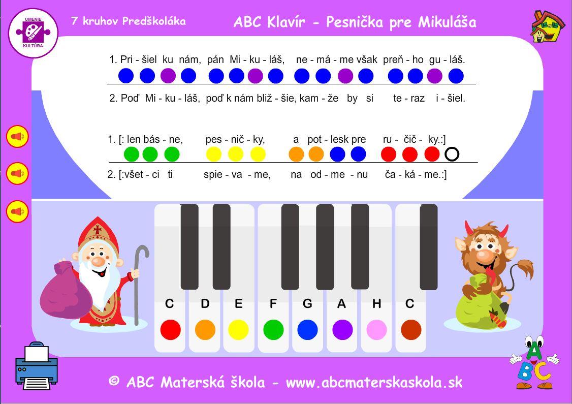 ABC Klavír - Pesnička pre Mikuláša