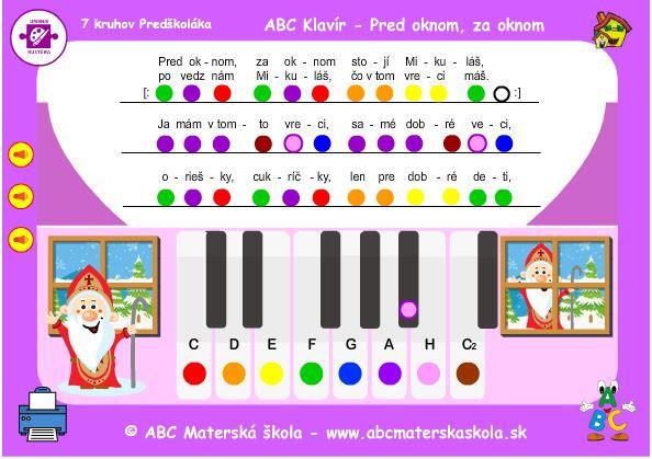 ABC Klavír - Pred oknom, za oknom stojí Mikuláš