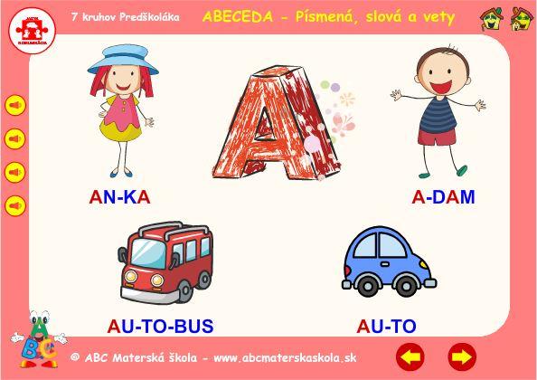 Abeceda - A - hra slová