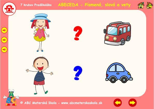Abeceda - A - hra vety
