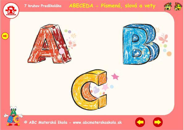 Abeceda ABC - Interaktívna zvuková hra