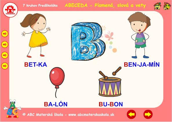 Abeceda - B - hra slová