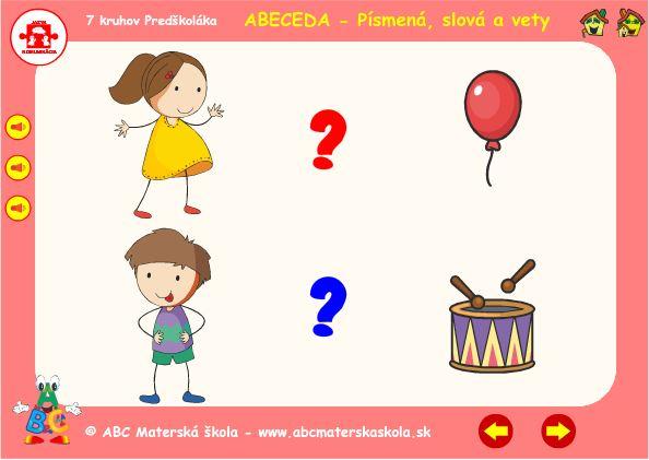 Abeceda - B - hra vety