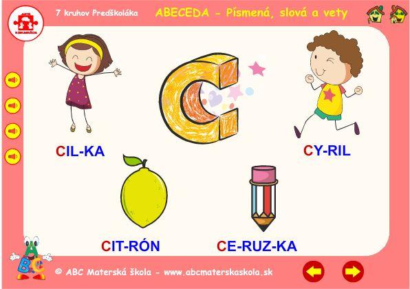 Abeceda - C - hra slová