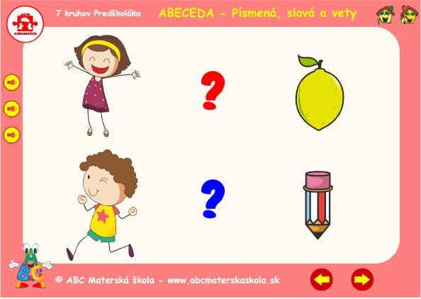 Abeceda - C - hra vety
