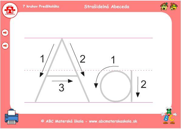 HRA Strašidelná abeceda - A - grafomotorika