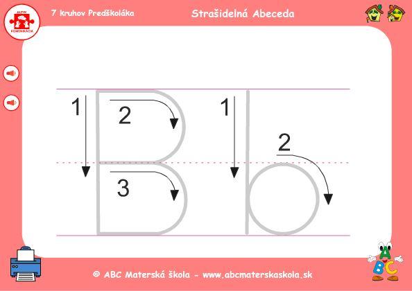 Hra Abeceda - B - grafomotorika