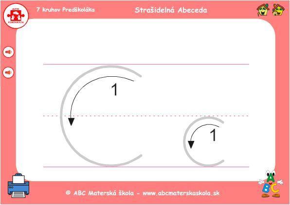 abeceda - C - grafomotorika