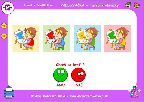 hra farebné obrázky