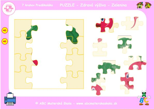 hra puzzle redkvička