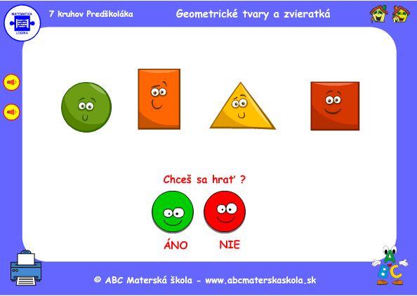 hra geometrické tvary a skryté zvieratká