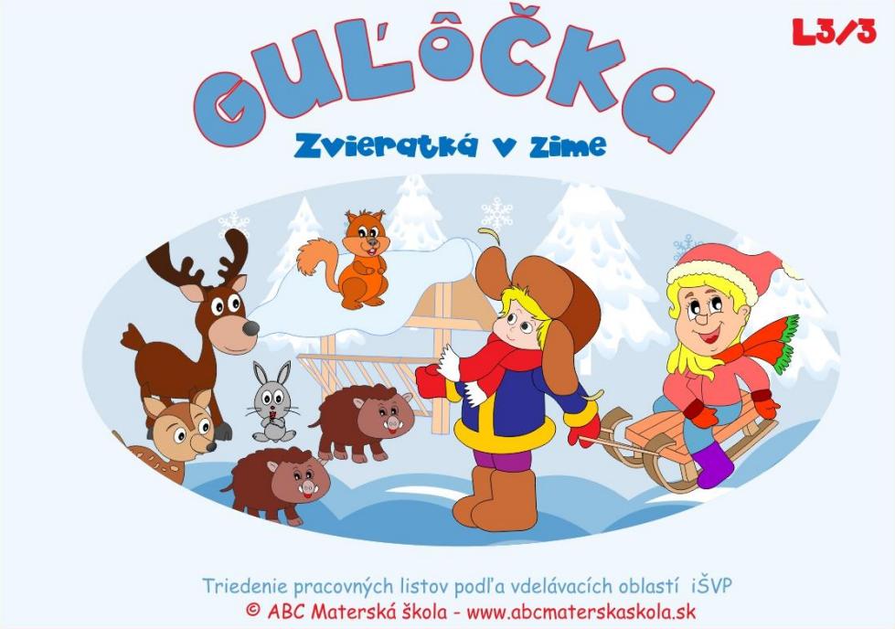 Pracovný zošit Guľôčka - Zvieratká v zime