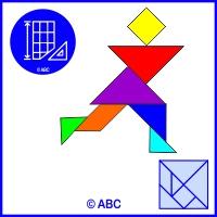 tangram bežec