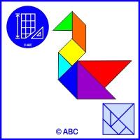 tangram labuť