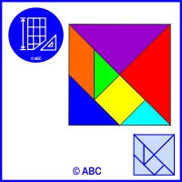 tangram štvorec