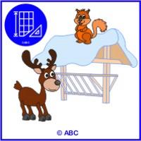Novy Svp Pre Ms Zvieratka V Zime Farebne Predlohy Ukazka Z Abc