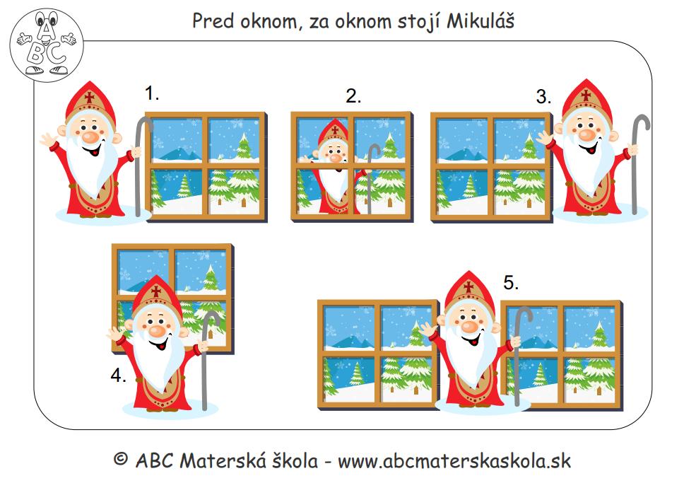 Pred oknom, za oknom stojí Mikuláš - Pracovný zošit