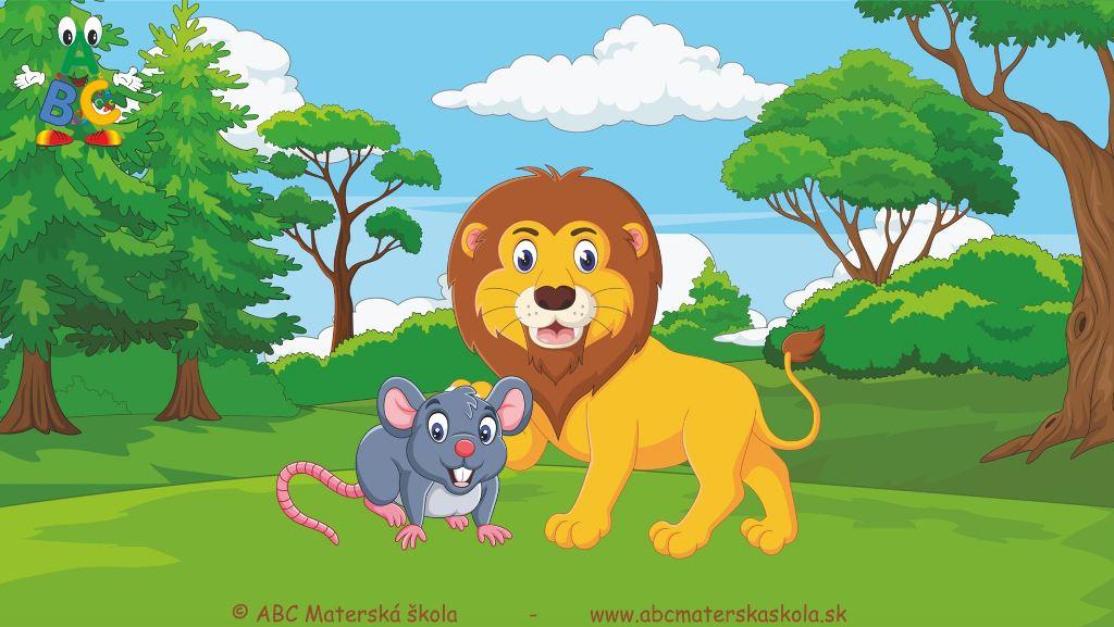 bájky, video bájky, bájky s ponaučením, potkan a lev