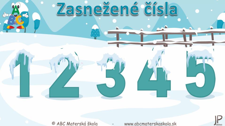 Zasnežené čísla - Koľko je snehuliakov? Vzdelávacie video s úlohami